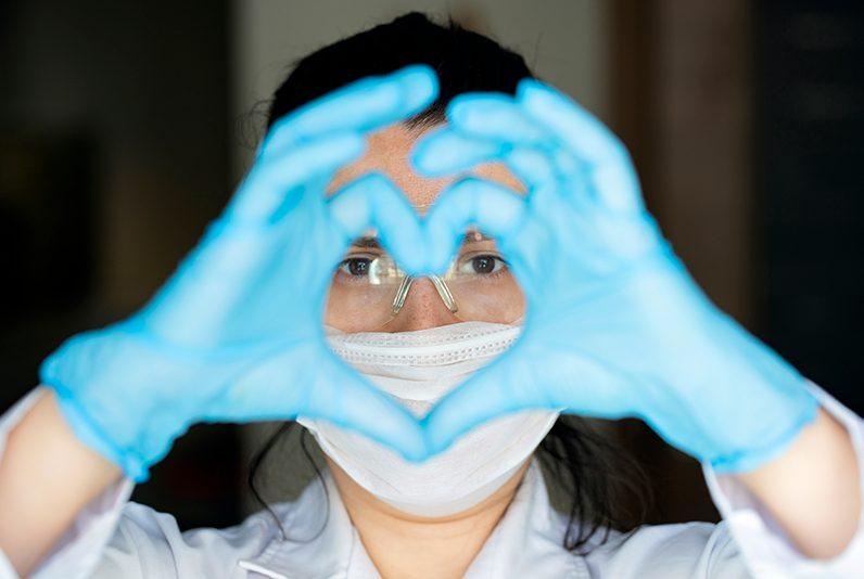 Healthcare worker wearing PPE
