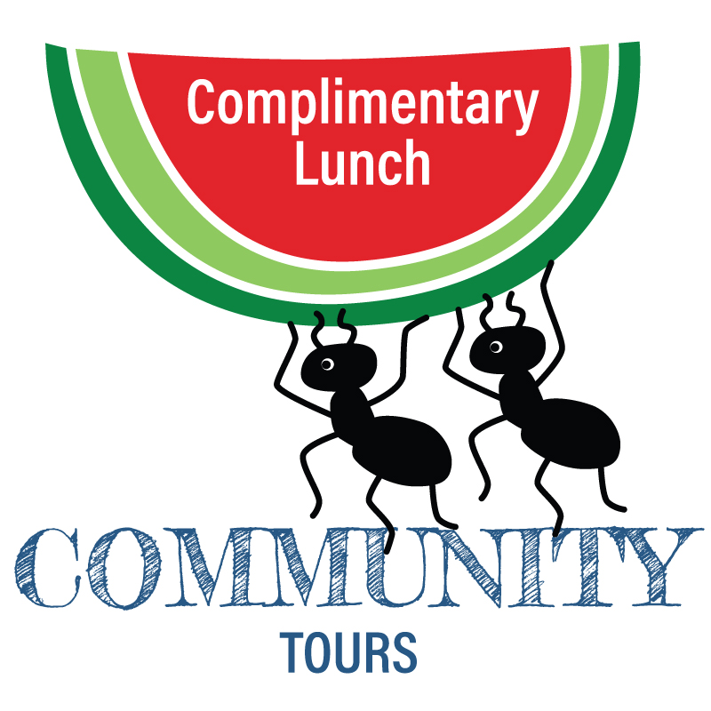 Join us for a complementary Lunch and Community tours